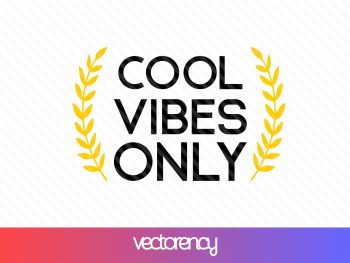 cool vibes only free svg