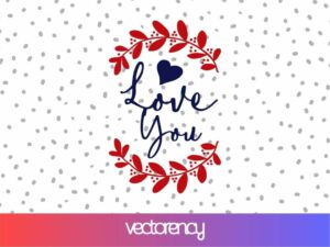 love you svg cut file love sign