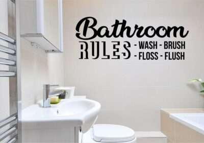 bathroom rules svg vector image