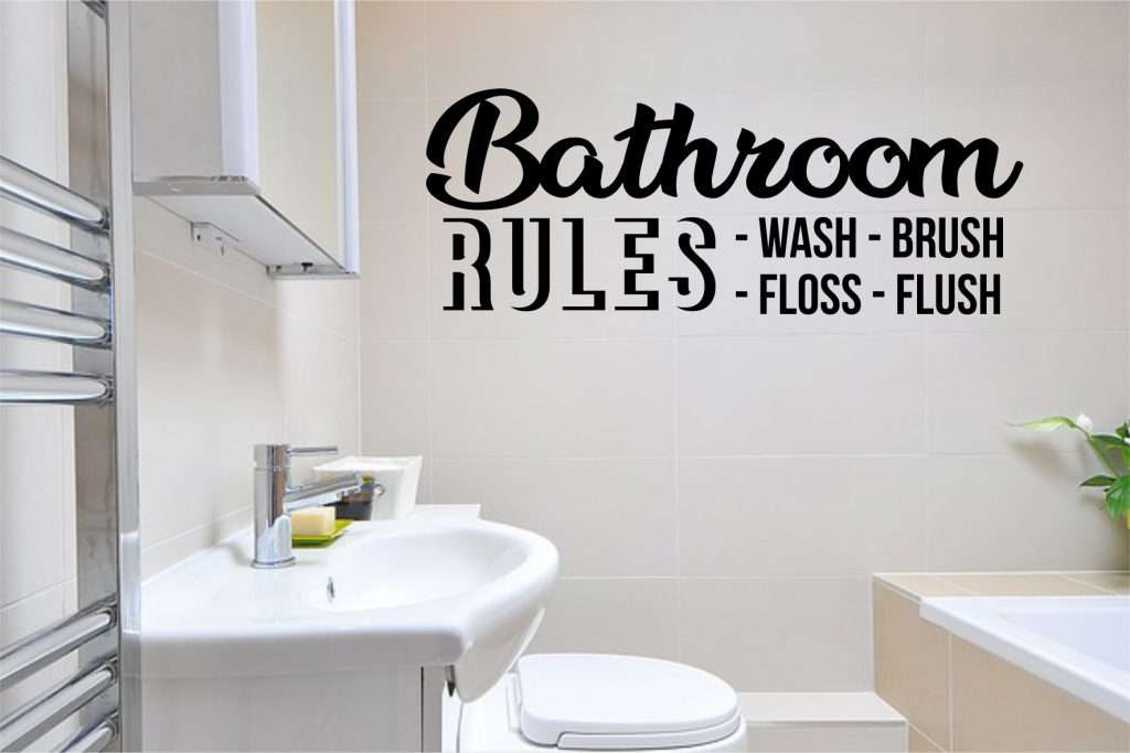bathroom rules svg vector image