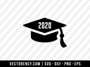 2020 Graduation Hat SVG Digital Cut File