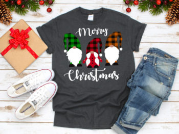 Merry Christmas, Gnomies Buffalo Plaid Svg