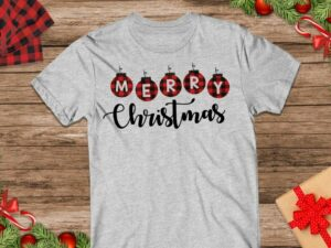 Merry Christmas Buffalo Plaid Svg