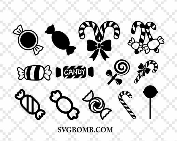 Candy SVG Cut Files Bundle
