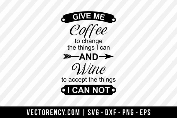 Coffee And Wine SVG File