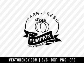 Farm Fresh Pumpkin SVG Digital File Cricut