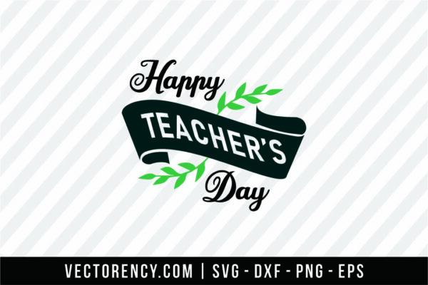Happy Teacher Day SVG Format Image