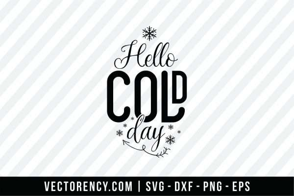 Hello Cold Days SVG Image