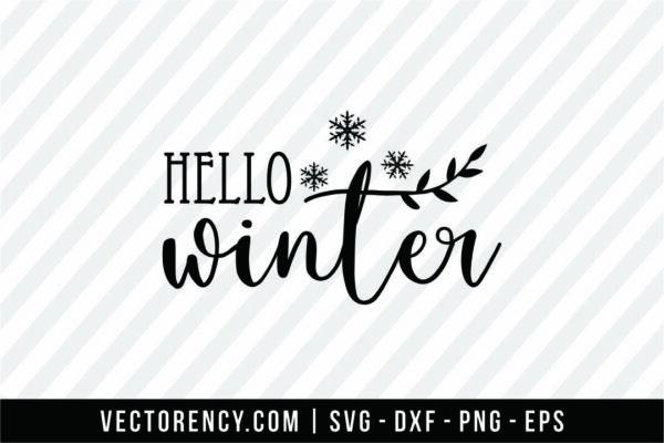 Hello Winter SVG Cut File