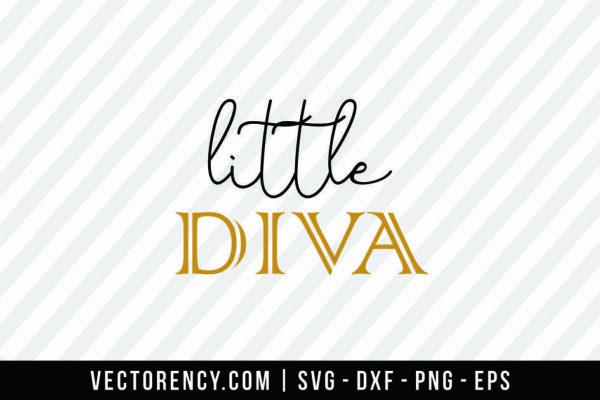 Digital SVG Cut File: Little Diva