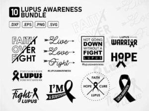 Lupus Awareness SVG Bundle