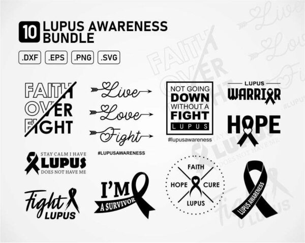 Lupus Awareness SVG Bundle