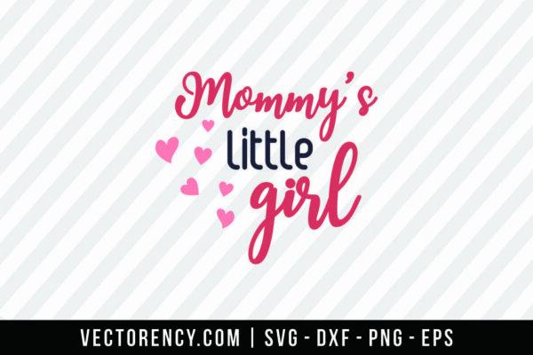 Mommy Little Girl SVG Digital Cut File