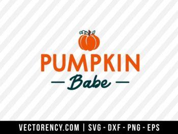 Pumpkin Babe SVG Cut File