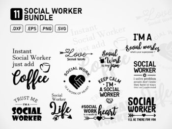 Social Worker SVG Bundle