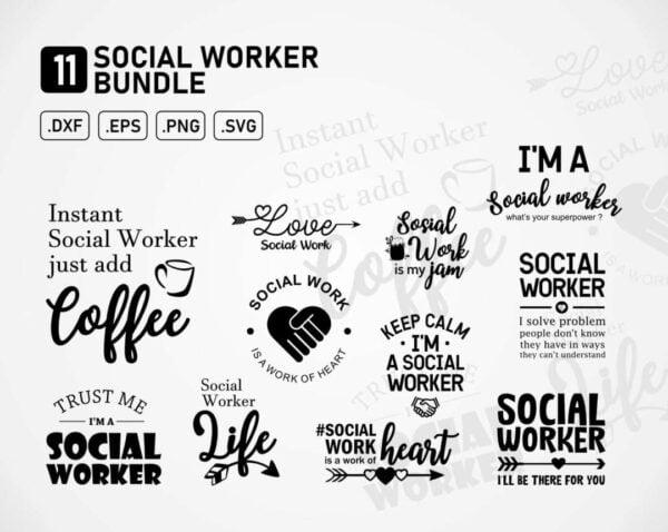 Social Worker SVG Bundle