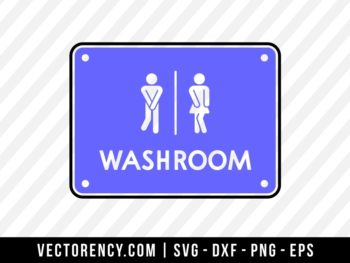 Washroom SVG File