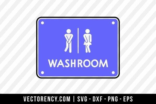 Washroom SVG File
