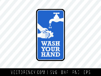 Wash Your Hand SVG File For Bathroom Design