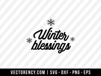 Winter Blessings SVG File