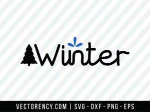 Winter Cut File SVG Format