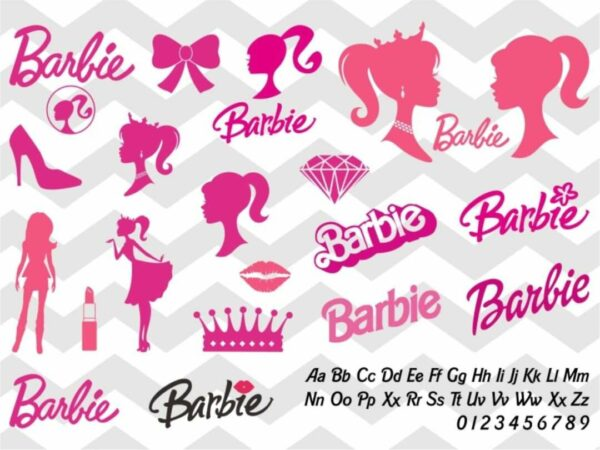 barbie svg bundle font silhouette
