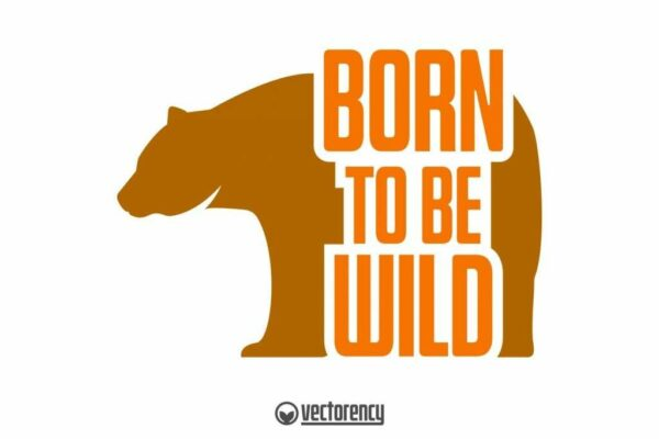 Bord To Be Wild SVG Vector Image
