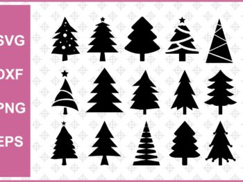 Christmas Tree Cut Files Bundle