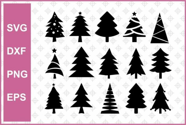 Christmas Tree Cut Files Bundle