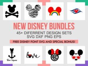 Disney SVG Bundle and Font