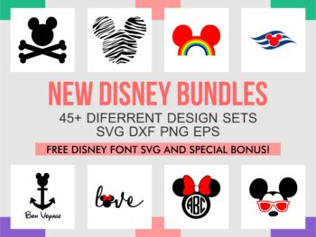 Disney SVG Bundle and Font