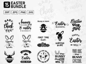 easter bundle design cut files printable