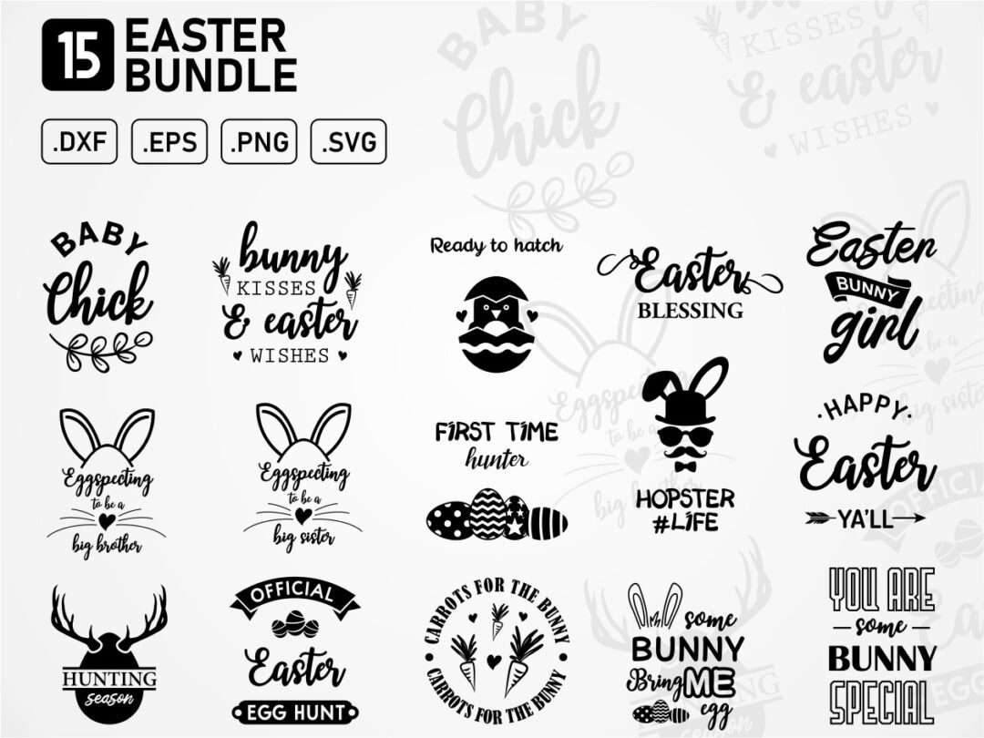 Easter Bundle Graphic Cut Files Vectorency