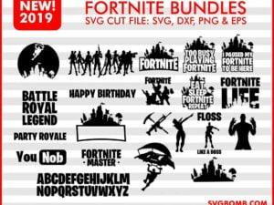 Fortnite Bundles SVG Cut File