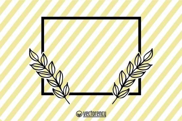 Frame Double Flower SVG Cut File