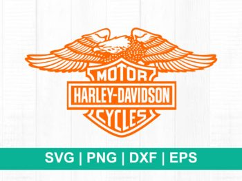 harley davidson eagle logo cut file