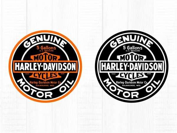 harley davidson digital cut file motor oil svg cut file