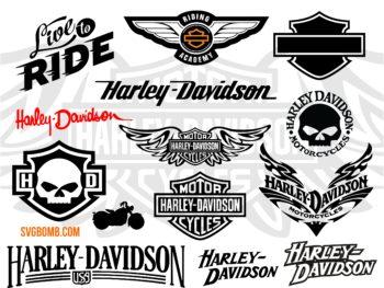Harley Davidson SVG Cut File PNG DXF & Vector