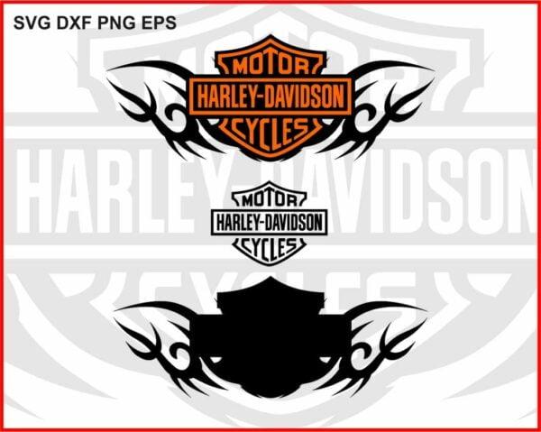 Harley Davidson Tribal Logo SVG DXF PNG EPS
