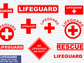Lifeguard SVG DXF EPS PNG Bundle