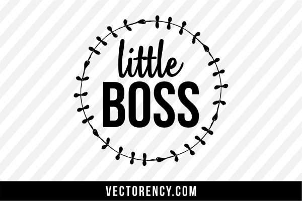 Newborn Baby: Little Boss Cut Files