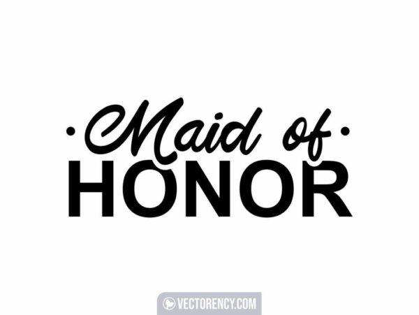 Maid Of Honor Wedding SVG