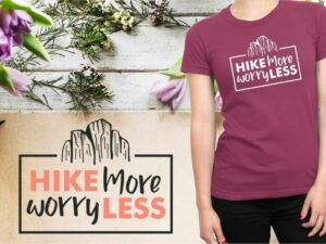 Hike More Worry Less, Travel SVG Cut File
