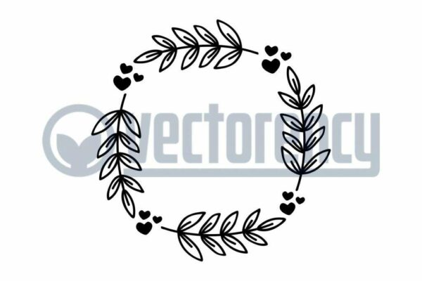 Wreath Leave With Love Cut File