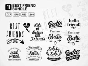 Best Friend svg cut files Bundle