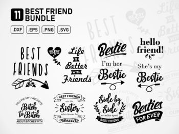 Best Friend svg cut files Bundle