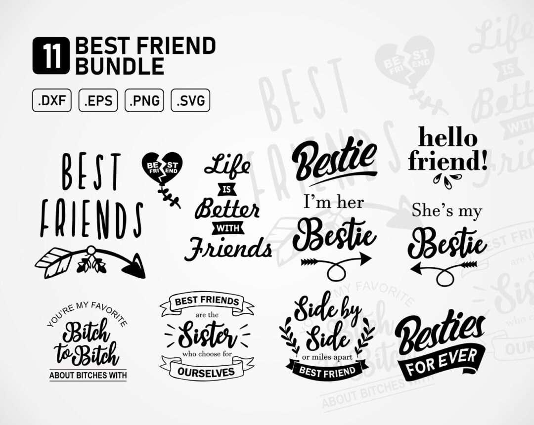 Best Friends Svg Bundle Vectorency