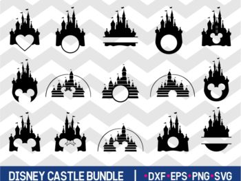 Disney Castle SVG Bundle - JPG