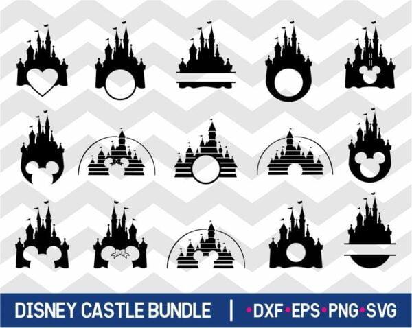 Disney Castle SVG Bundle - JPG