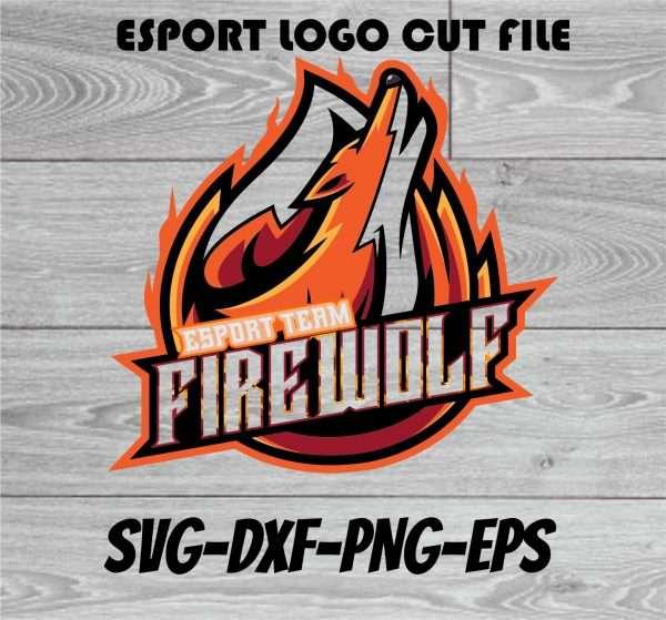 FIRE WOLF ESPORT LOGO Vectorency FIRE WOLF ESPORT LOGO SVG CUT FILE, ESPORT LOGO, ESPORT FILE,ESPORT CUT FILE